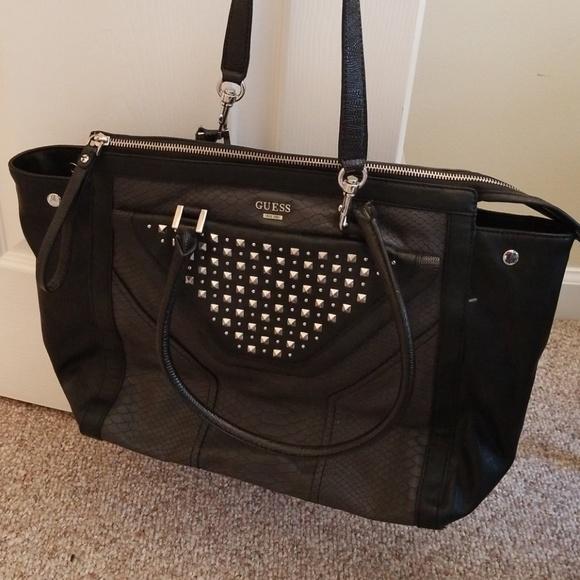 Guess Bags   Black Large Tote Shoulder Bag   Poshmark 1ad812dc34
